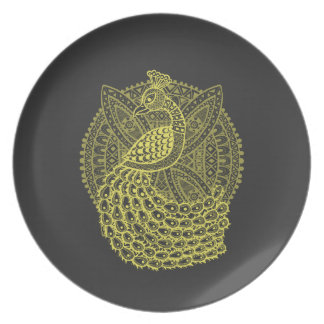 The Gold Peacock Plate