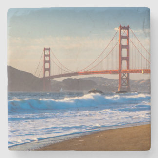 The Golden Gate Bridge From Baker Beach Stone Coaster
