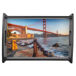 The Golden Gate Bridge From Fort Point Food Tray