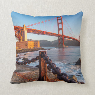 The Golden Gate Bridge From Fort Point Throw Pillow