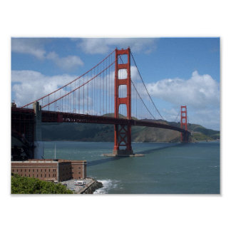 The Golden Gate Bridge in Frisco Poster