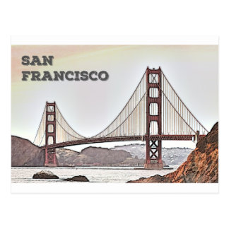 The Golden Gate Bridge - San Francisco, CA Postcard