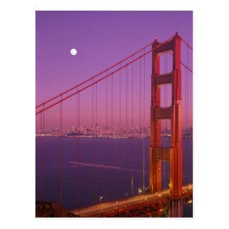 The Golden Gate Bridge shortly after sunset, Postcard