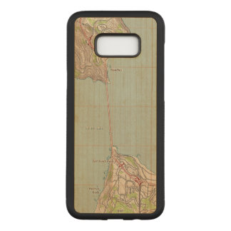 The Golden Gate Topographic Map Carved Samsung Galaxy S8+ Case