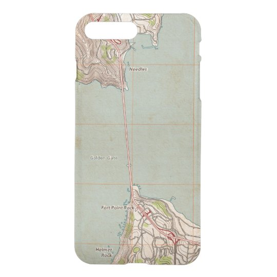 The Golden Gate Topographic Map iPhone 7 Plus Case