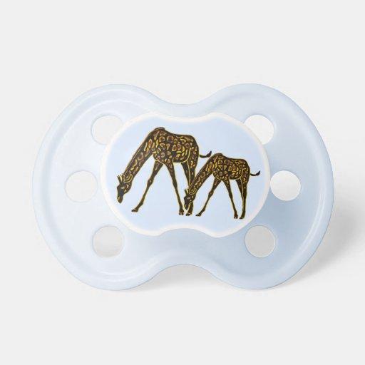 The Golden Giraffe Baby Pacifiers