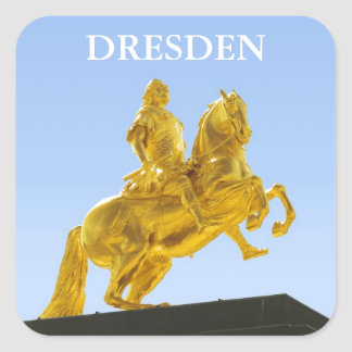 The Golden Horseman Square Sticker