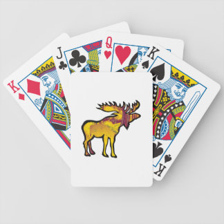 The Golden Moose Bicycle Playing Cards