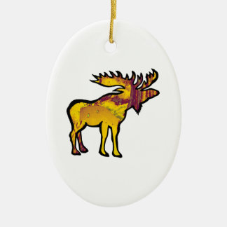 The Golden Moose Ceramic Ornament
