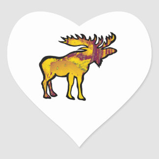 The Golden Moose Heart Sticker