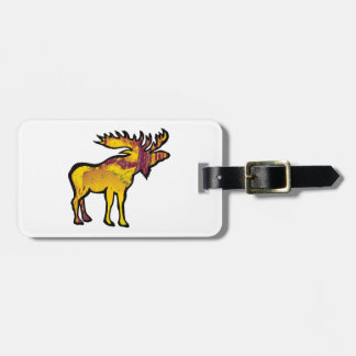 The Golden Moose Luggage Tag