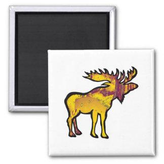 The Golden Moose Magnet