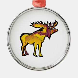 The Golden Moose Metal Ornament