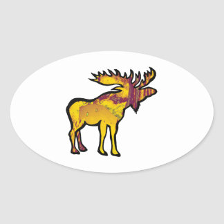 The Golden Moose Oval Sticker