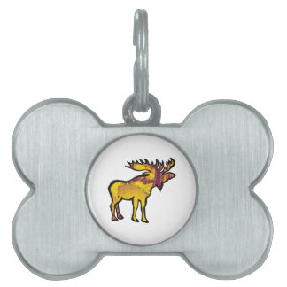 The Golden Moose Pet Tag