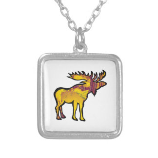 The Golden Moose Silver Plated Necklace
