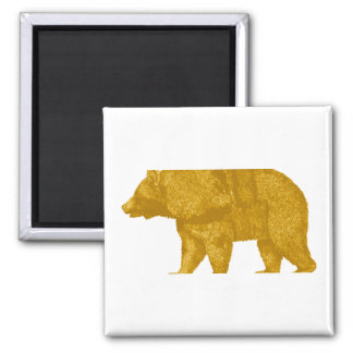THE GOLDEN ONE SQUARE MAGNET