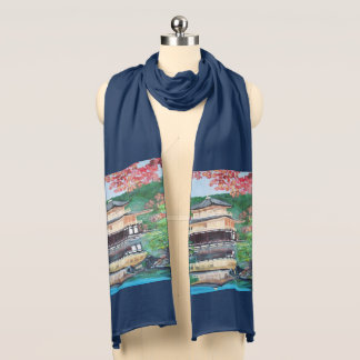 The Golden Pavilion Temple - Jersey Scarf