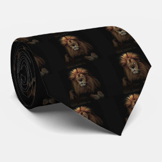 The Golden Proud  Lion Africa Tie