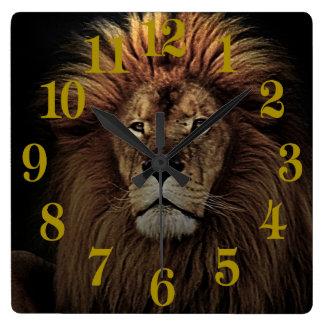 The Golden Proud  Lion Africa Wallclocks