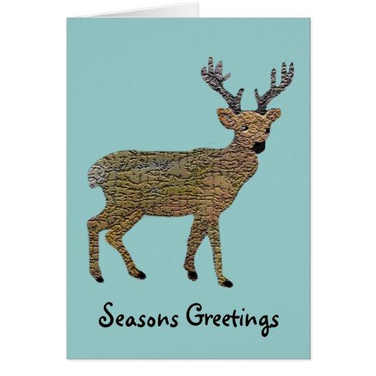 The Golden Reindeer Card