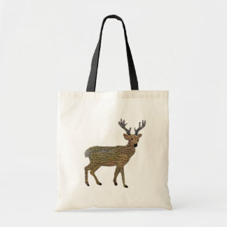 The Golden Reindeer Tote Bag