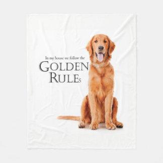 The Golden Rules Fleece Blanket