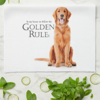 The Golden Rules Kitchen Towel