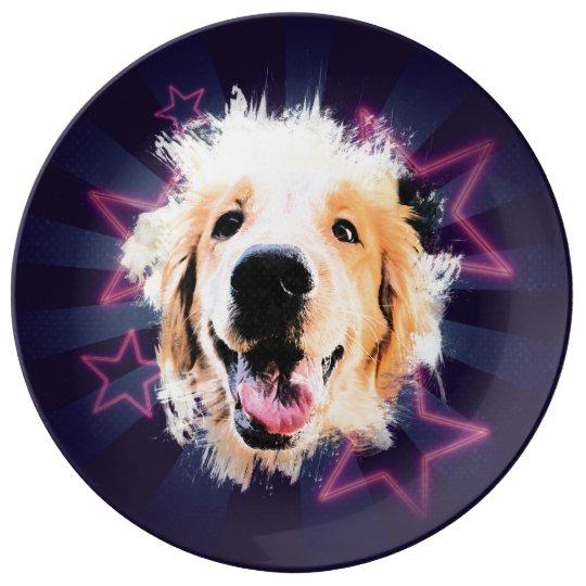 The Golden STAR Plate Porcelain Plate