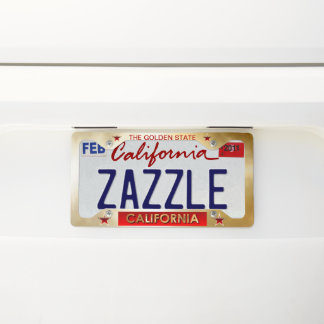 The Golden State License Plate Frame