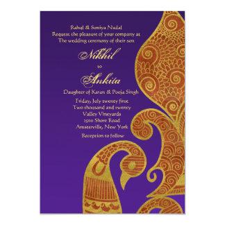 The Golden Swan Wedding Invitation