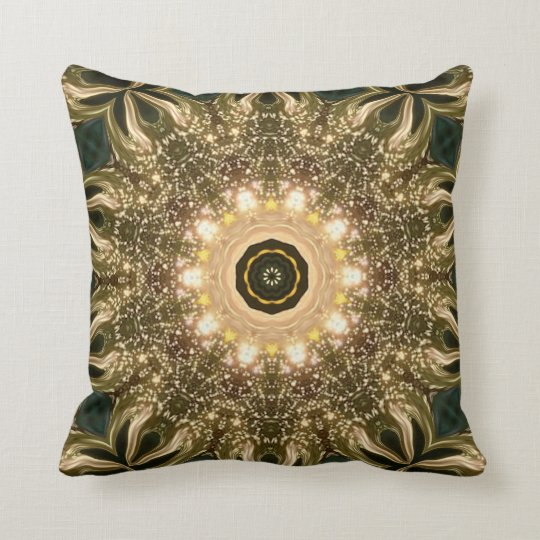 The Golden Throne. Throw Pillow