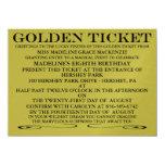 The Golden Ticket Metallic Gold Birthday