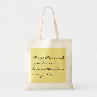 The golden wind of autumn tote bag