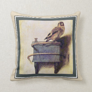 The Goldfinch by Carel Fabritius Throw Pillow