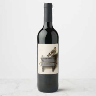 The Goldfinch by Carel Fabritius Wine Label
