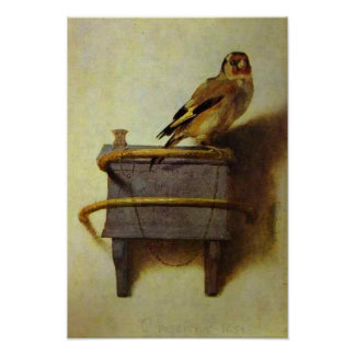 The Goldfinch painting reproduction Poster