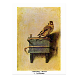The Goldfinch., Puttertje  By Carel Fabritius Postcard