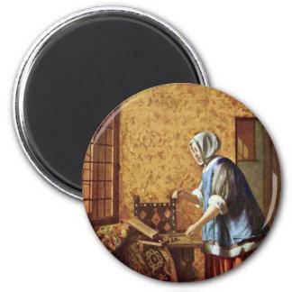 The Goldwägerin By Hooch Pieter De (Best Quality) Magnet