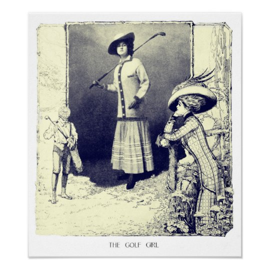 The Golf Girl - Vintage Art Print