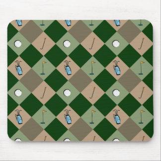 The Golfer Pattern Mousepad