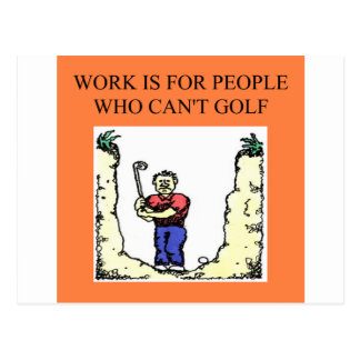 the golfer postcard