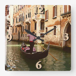 The Gondolier Square Wall Clock