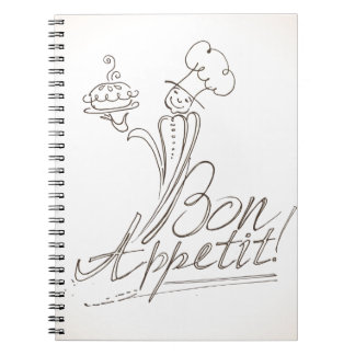 The Good Chef says Bon Appetit! Spiral Notebook