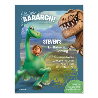 "The Good Dinosaur Birthday 4.25"" X 5.5"" Invitation Card"