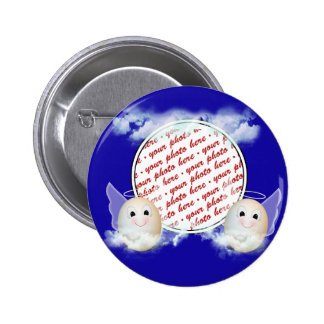 The Good Egg Angel Photo Frame Pinback Button