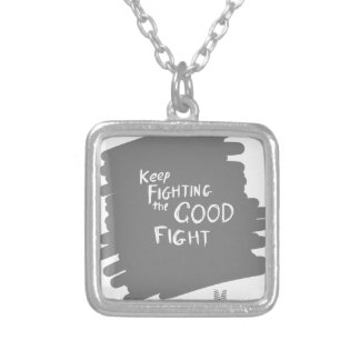 The Good fight Silver Plated Necklace