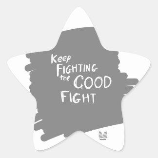 The Good fight Star Sticker