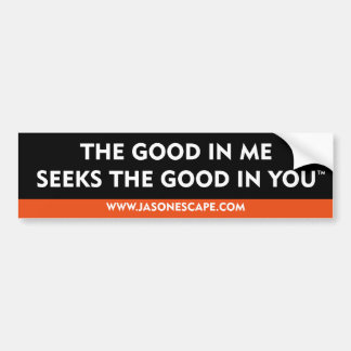 The good in me seeks the good in you™ bumper sticker