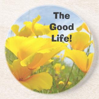 The Good Life! coasters Orange Poppy Flowers